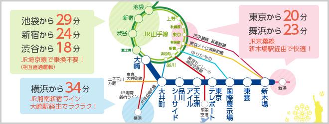 新宿 から 東京 テ レポート